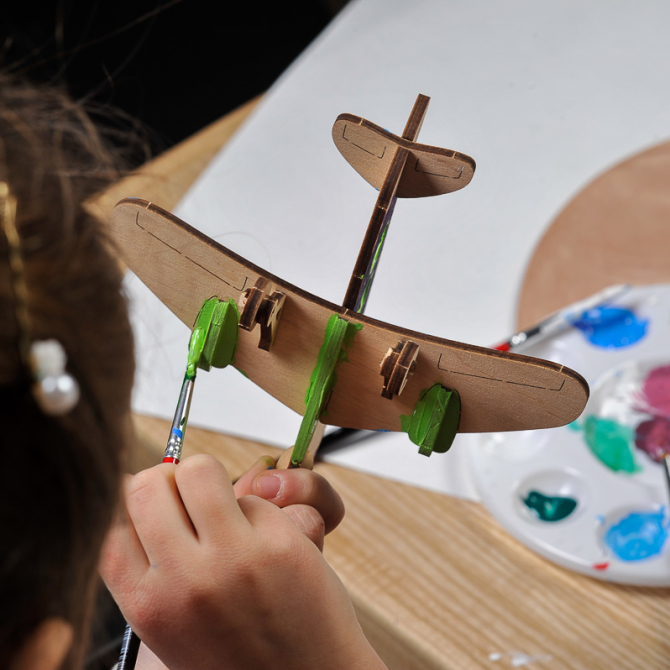 Ugears 4Kids coloring Airplane 14