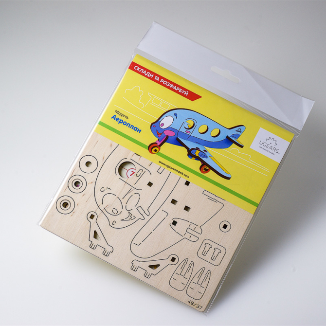 Ugears 4Kids coloring Airplane 16