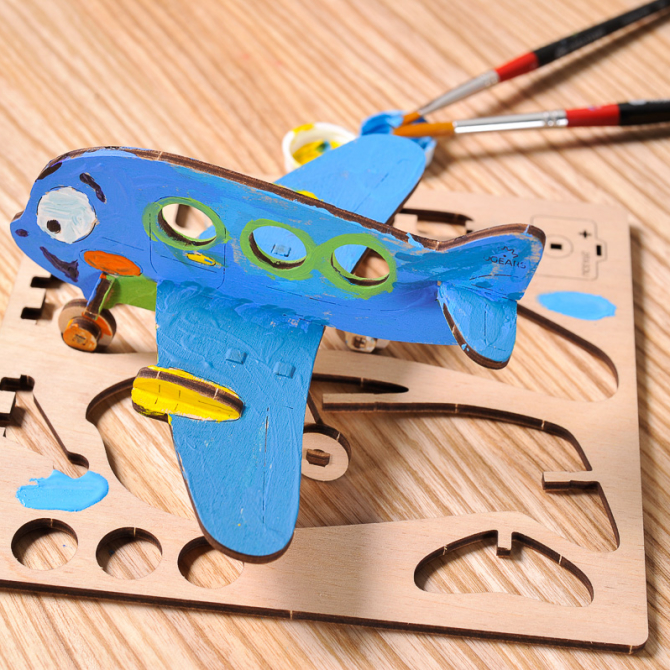 Ugears 4Kids coloring Airplane 4