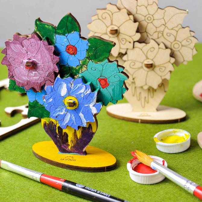 Ugears 4Kids coloring Bouquet 2