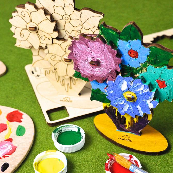 Ugears 4Kids coloring Bouquet 5