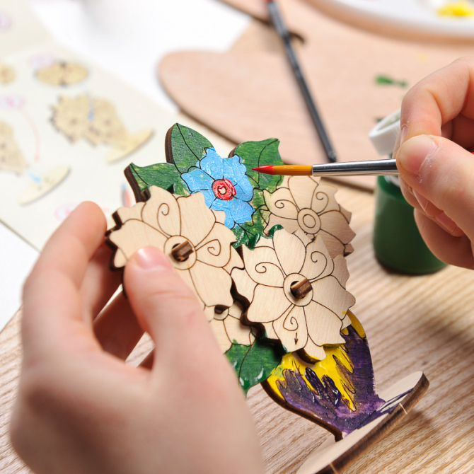Ugears 4Kids coloring Bouquet 7
