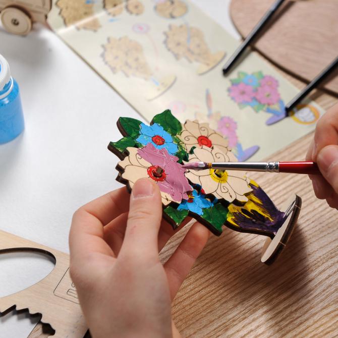Ugears 4Kids coloring Bouquet 8