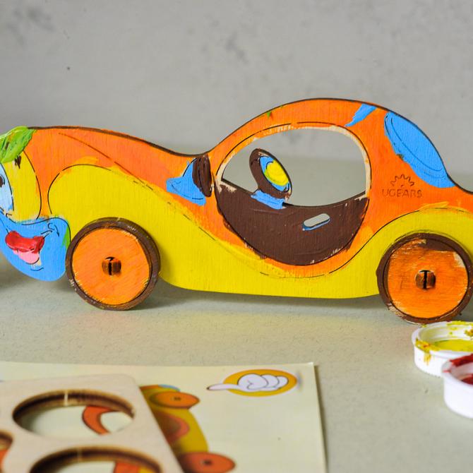 Ugears 4Kids coloring Car 4