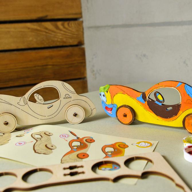 Ugears 4Kids coloring Car 7