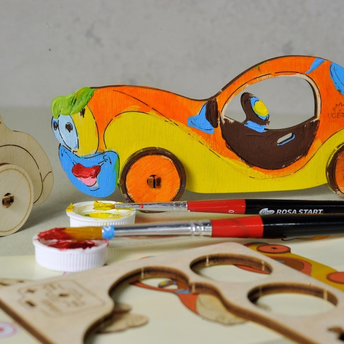 Ugears 4Kids coloring Car Title Photo in Catalogue