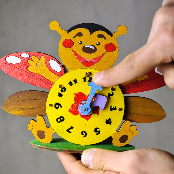 Ugears 4Kids coloring Clock 3