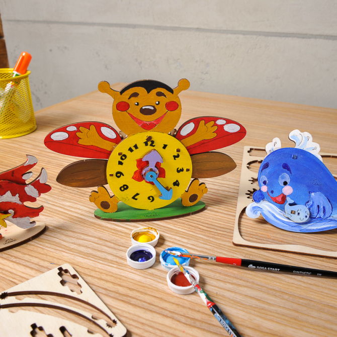 Ugears 4Kids coloring Clock 5