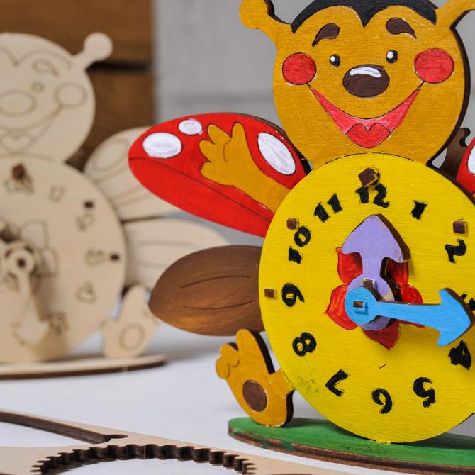 Ugears 4Kids coloring Clock 6