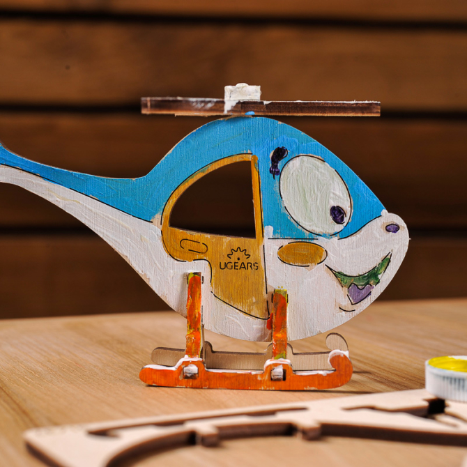 Ugears 4Kids coloring Helicopter 5
