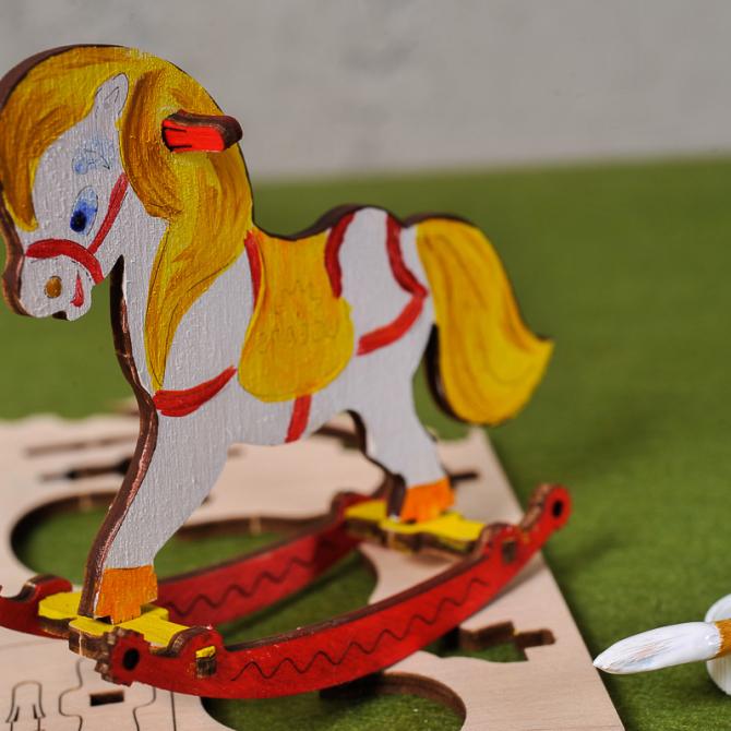 Ugears 4Kids coloring Horse Swing