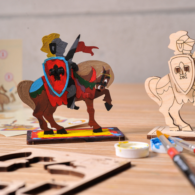 Ugears 4Kids coloring Knight 1