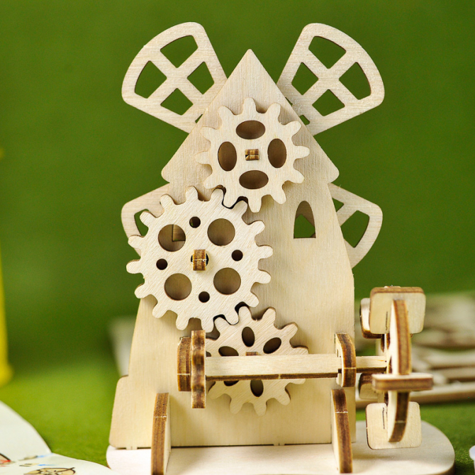 Ugears 4Kids coloring Mill 10