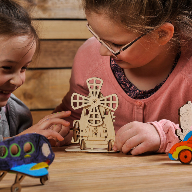 Ugears 4Kids coloring Mill 16