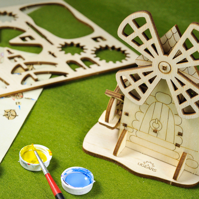 Ugears 4Kids coloring Mill 6