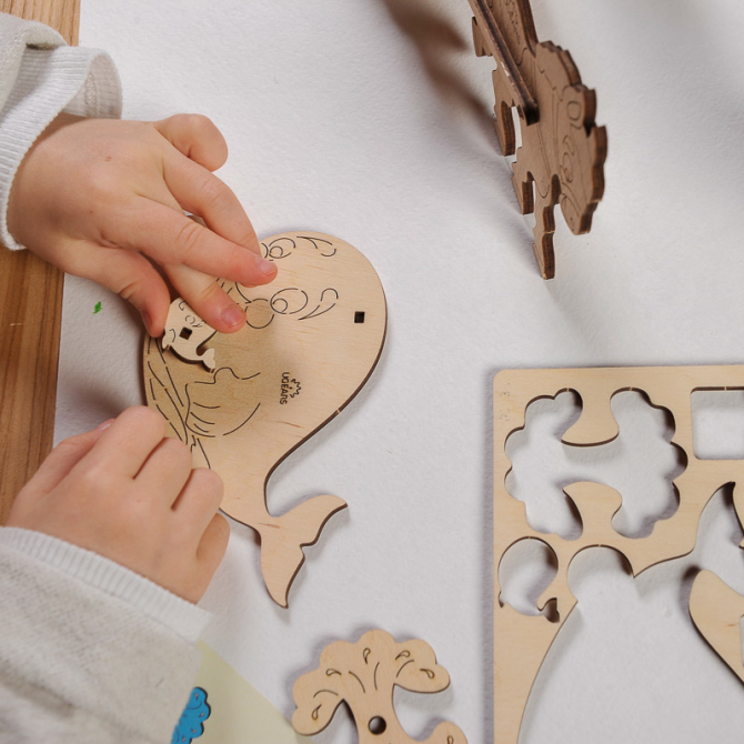 Ugears 4Kids coloring Whale 6