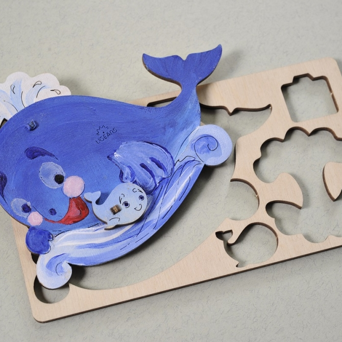 Ugears 4Kids coloring Whale Title Photo in Catalogue