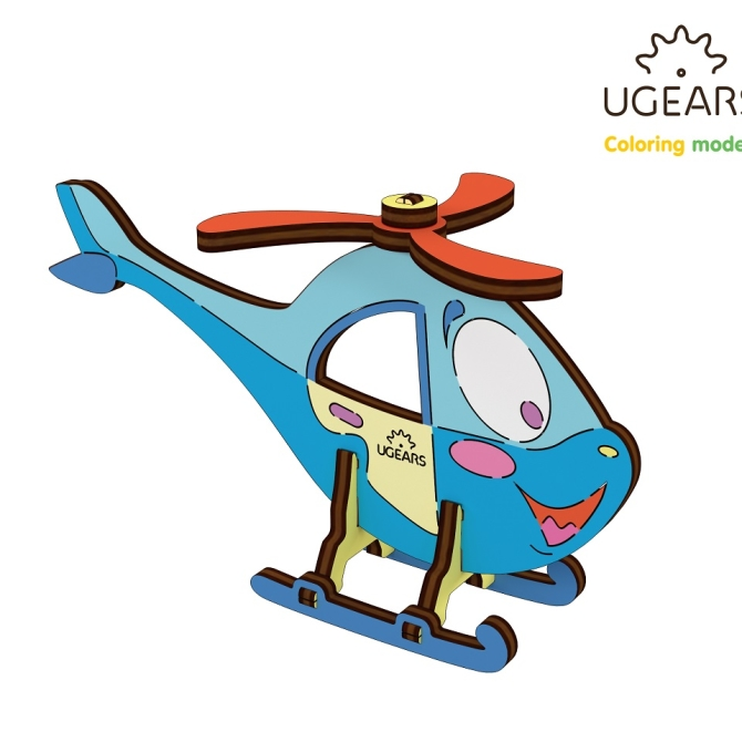 Ugears Coloring Model Helicopter