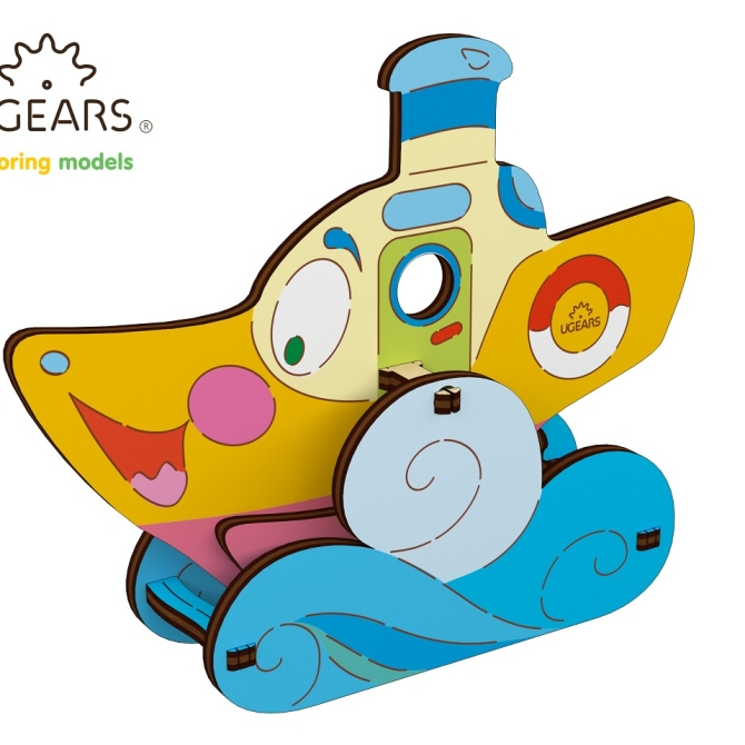 Ugears Coloring Model Steamboat